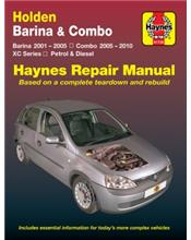 Holden Barina 2001 - 2005 & Combo 2001 - 2010 Haynes Repair Manual