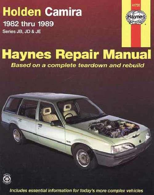 Holden Camira JB, JD & JE 1982 - 1989 Haynes Owners Service & Repair Manual - Front Cover