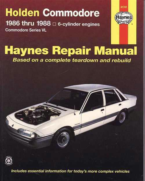 Holden Commodore VL (6 cyl) 1986 - 1988 Haynes Owners Service & Repair Manual - Front Cover