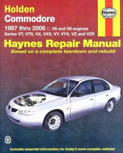 Holden Commodore VT to VZ II 1997 - 2006 Haynes Owners Service & Repair Manual - Front Cover