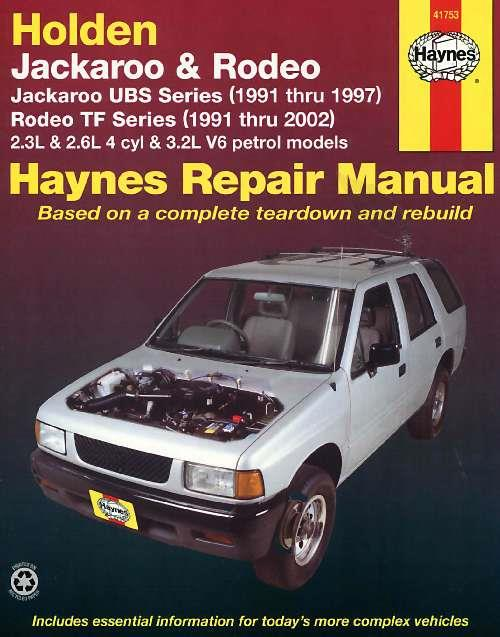 Holden Jackaroo (UBS) 1991 - 1997 & Rodeo (TF) 1991 - 2002 - Front Cover
