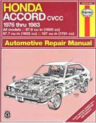 Honda Accord CVCC 1976 - 1983 Haynes Owners Service & Repair Manual - Front Cover