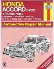 Honda Accord CVCC 1976 - 1983 Haynes Owners Service & Repair Manual