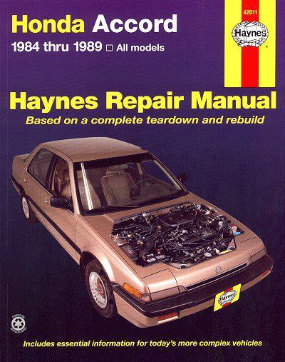 Honda Accord 1984 - 1989 Haynes Owners Service & Repair Manual