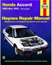 Honda Accord 1990 - 1993 Haynes Owners Service & Repair Manual