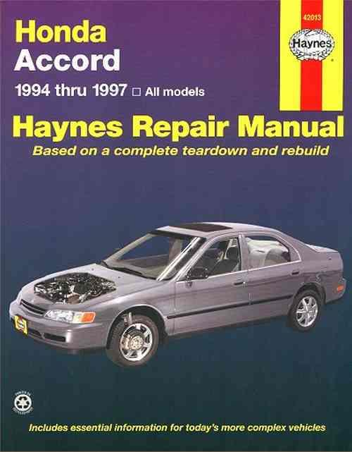 Honda Accord 1994 - 1997 Haynes Owners Service & Repair Manual