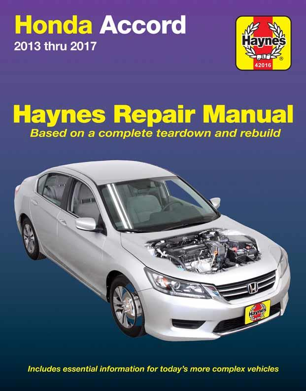 Honda Accord 2013 - 2017 Haynes Owners Service & Repair Manual (USA)
