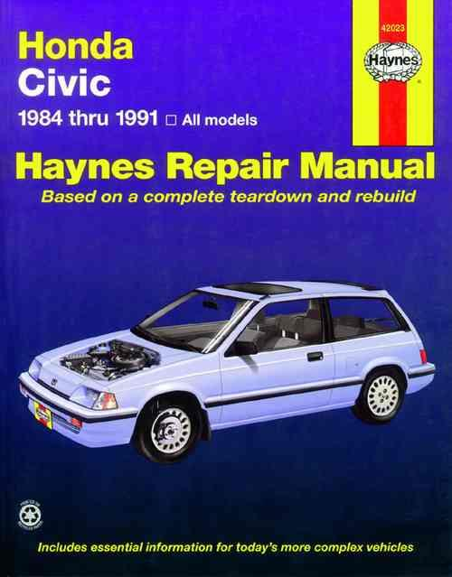 Honda Civic 1984 - 1991 Haynes Owners Service & Repair Manual - Front Cover