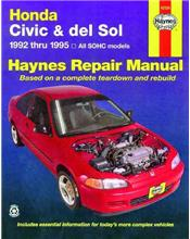 Honda Civic & del Sol 1992 - 1995 Haynes Owners Service & Repair Manual