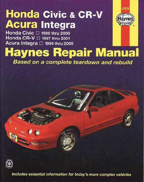Honda Civic & CR-V (CRV), Acura Integra 1994 - 2001