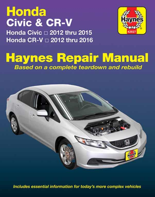 Honda Civic 2012 - 2015 & CR-V 2012 - 2016 Manual (USA)
