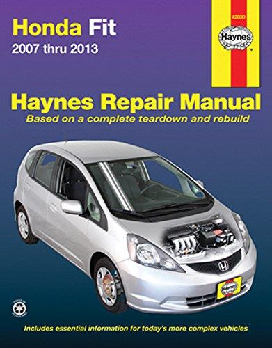 Honda Fit (Jazz) 2007 - 2013 Haynes Owners Service & Repair Manual - Front Cover