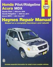 Honda Pilot, Ridgeli, Acura & MDX 2001 - 2014