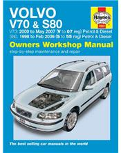 Volvo V70 2000 - 2007 & S80 1998 - 2006 Petrol & Diesel