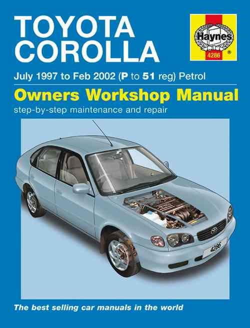 Toyota Corolla (AE112R) 1997 - 2002 Haynes Owners Service & Repair Manual - Front Cover