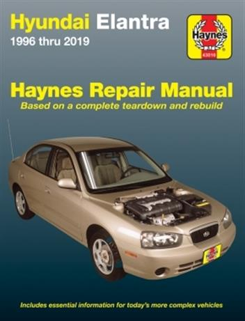 Hyundai Elantra 1996 - 2013 Haynes Owners Service & Repair Manual - Front Cover