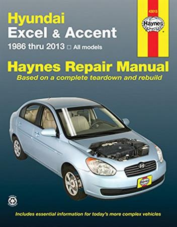 Hyundai Excel, Accent 1986 - 2013 Haynes Owners Service & Repair Manual - Front Cover
