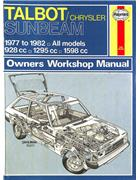 Talbot/Chrysler Sunbeam 1977 - 1982 Haynes Owners Service & Repair Manual