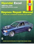 Hyundai Excel 1986 - 2000 Haynes Owners Service & Repair Manual - Front Cover
