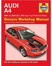 Audi A4 (Petrol & Diesel) 2001 - 2004 Haynes Owners Service & Repair Manual