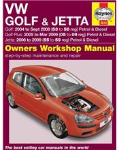VW Golf & Jetta Petrol & Diesel 2004-2009 Haynes Owners Service & Repair Manual
