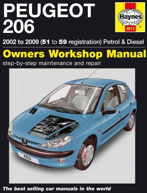 Peugeot 206 Petrol & Diesel 2002 - 2009 Haynes Owners Service & Repair Manual - Front Cover