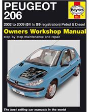 Peugeot 206 (Petrol & Diesel) 2002 - 2009 Haynes Owners Service & Repair Manual