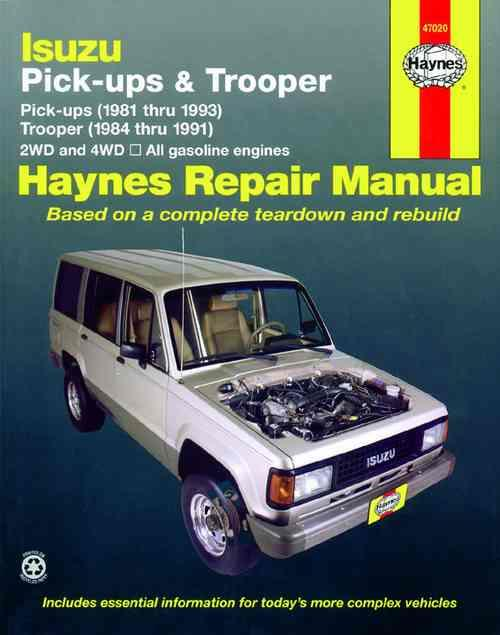 Isuzu Pick-Ups & Trooper (Holden Jackaroo / Rodeo Petrol) 1981 - 1993 - Front Cover