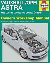 Vauxhall / Opel Astra Diesel 2004 - 2008 Haynes Owners Service & Repair Manual