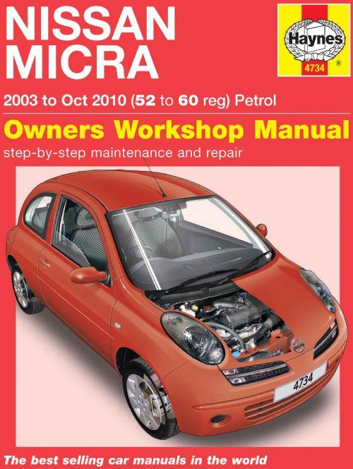 Nissan Micra K12 Petrol 2003 - 2010 Haynes Owners Service & Repair Manual