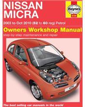 Nissan Micra K12 Petrol 2003 - 2010 Haynes Owners Service & Repair Manual
