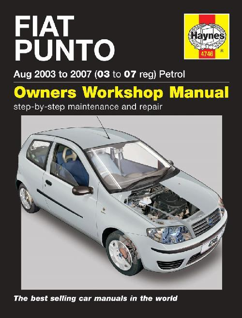 Fiat Punto (Petrol) 2003 - 2007 Haynes Owners Service & Repair Manual - Front Cover