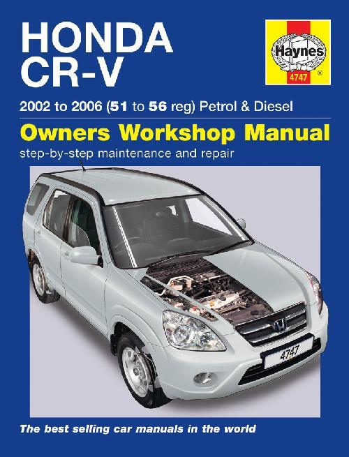 Honda CR-V Petrol & Diesel 2002 - 2006 Haynes Owners Service & Repair Manual