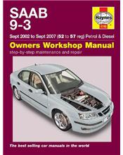 Saab 9-3 Petrol & Diesel 2002 - 2007 Haynes Owners Service & Repair Manual