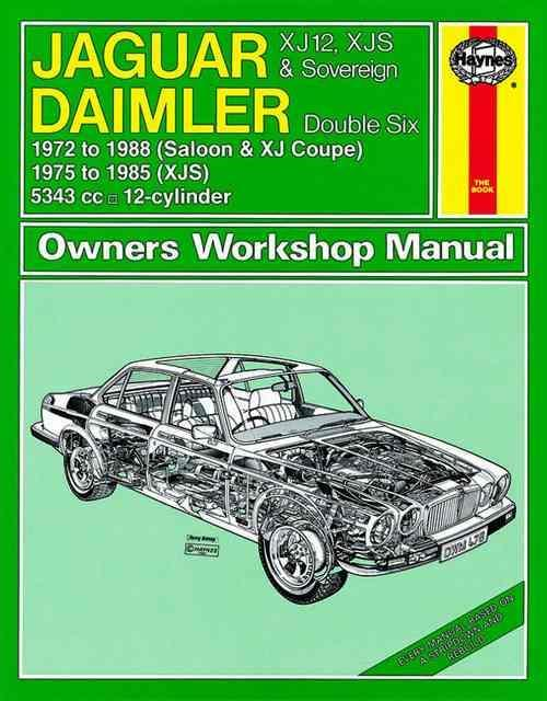 Jaguar XJ12, XJ-S (XJS) & Sovereign Daimler Double Six 1972 - 1988 - Front Cover