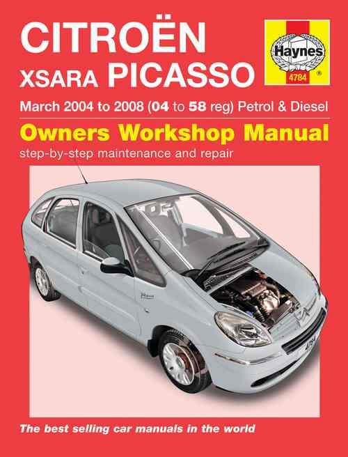 Citroen Xsara Picasso Petrol & Diesel 2004 - 2008 - Front Cover