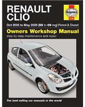 Renault Clio Petrol & Diesel 2005 - 2009 Haynes Owners Service & Repair Manual