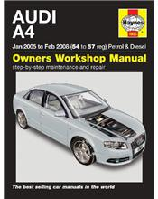 Audi A4 (Petrol & Diesel) 2005 - 2008 Haynes Owners Service & Repair Manual