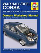 Vauxhall / Opel Corsa (Holden Barina) Petrol & Diesel 2006 - 2010 - Front Cover