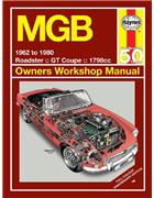 MGB & GT 1962 - 1980 Haynes Owners Service & Repair Manual - Front Cover