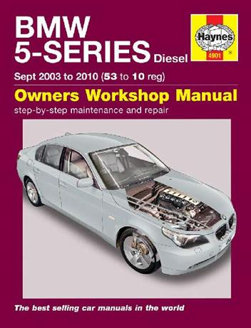 BMW 5 Series E60 & E61 Diesel 2003 - 2010 Haynes Owners Service & Repair Manual - Front Cover