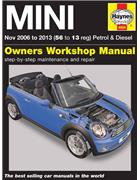 MINI Petrol & Diesel 2006 - 2013 Haynes Owners Service & Repair Manual