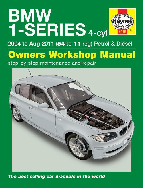 BMW 1-Series (4-cyl) 2004 - 2011 Haynes Owners Workshop Manual - Front Cover