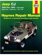 Jeep CJ 1949 - 1986 Haynes Owners Service & Repair Manual - Front Cover