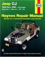 Jeep CJ (Petrol) 1949 - 1986 Haynes Owners Service & Repair Manual