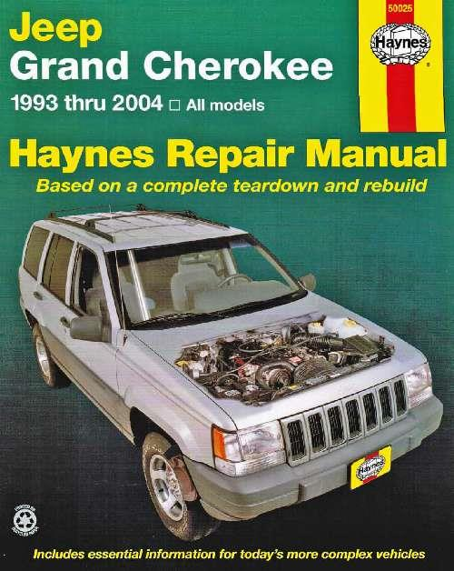 Jeep Grand Cherokee 1993 - 2004 Haynes Owners Service & Repair Manual - Front Cover