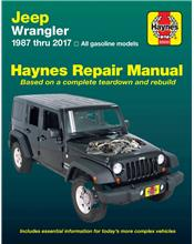 Jeep Wrangler (Petrol) 1987 - 2017 Haynes Owners Service & Repair Manual