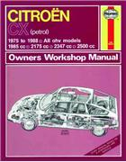 Citroen CX 1975 - 1988 Haynes Owners Service & Repair Manual - Front Cover