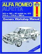 Alfa Romeo Alfetta 1973 - 1987 Haynes Owners Service & Repair Manual - Front Cover