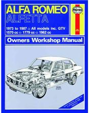 Alfa Romeo Alfetta 1973 - 1987 Haynes Owners Service & Repair Manual